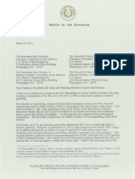 Rick Perry Letter to Congress Regarding the Wire Act (03/24/2014)