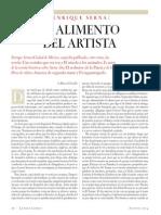 El Alimento Del Artista- Enrique Serna
