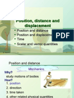 Distance and Displacement Power Point