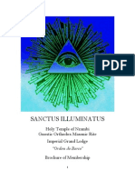 Holy Temple of Nzambi, Gnostic Masonic Rite, Sanctus Illuminatus, Brochure of Membership 2014