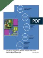 elementos pedagógicos constitutivos del diseño instruccional