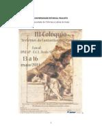Caderno de resumos III Colóquio Vertentes do Fantástico - ASSIS