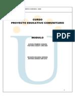 Protocolo y Modulo Proyecto Educativo Comunitario