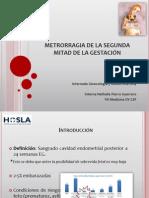 METRORRAGIA DE LA SEGUNDA MITAD DE LA GESTACIÓN