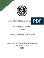 GAS WELDING REPORT(Mohamad Syazwan Bin Abd Aziz F2029)