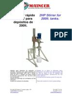 [ES][EN] AGITADOR RÁPIDO DE 2CV PARA DEPÓSITOS DE 200LT - 2HP STIRRER FOR 200LT TANKS.pdf