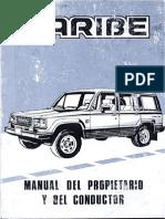 Isuzu Caribe 442 Manual Del Propietario