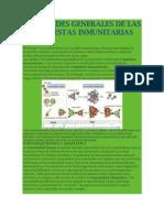 Ropiedades Generales de Las Respuestas Inmunitarias