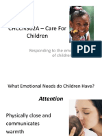 Care for Children- Responding to Emotional Needs