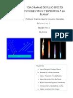 Diagramas de Flujo Efecto Fotoelectrico y Espectros a La Flama
