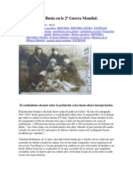 Canibalismo en Rusia en la 2ª Guerra