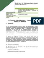 Objeto Almacenamiento, manipulación y transporte de sustancias químicas