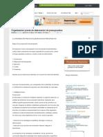Organizacion Previa de Elaboracion de Presupuestos - Documentos - Arceliakim