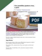 Cómo hacer los pastelitos pantera rosa