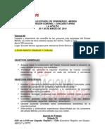 Revision Final Agenda Encuentro Comunero La Azulita.