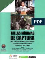 Tallas mínimas de captura de las principales especies de peces comerciales de Colombia