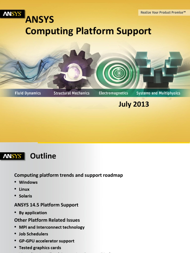 Platform Support Ansys 14 5 Detailed Summary | 64 Bit Computing
