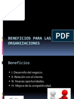 Beneficios Para Las Organizaciones