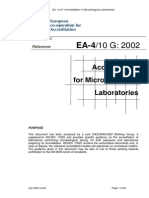 EA-4-10 G-2002. Accreditation for Microbiological Laboratories