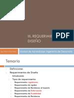 III. Requerimientos de diseño