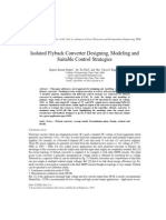 Isolated Flyback Converter Designing, Modeling and Suitable Control Strategies