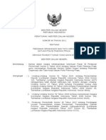 PERMENDAGRI No.40 Th.2011 - Pedoman Organisasi Dan Tata Kerja Satuan Polisi Pamong Praja