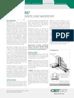Waterstop-RX Tech Data