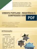 CIMENTO PORTLAND - RESISTÊNCIA À COMPRESSÃO SIMPLES