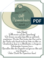 Cafe Rosenhain Getränke Karte
