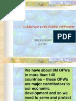Labour Welfare Officer