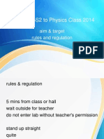 Welcome 5S2 to Physics Class 2014