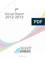 Avanti Feeds - Annual Report 2012-13