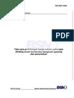 aturan analisa dinding