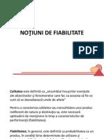Notiuni de Fiabilitate RO