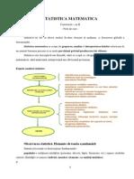 Statistica Matematica - Note 1 RO
