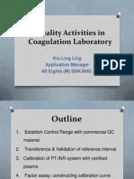 Quality Assurance  Activities in Coagulation_IPPT_97