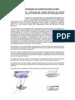 Acta de Extraordinaria de Acuerdos de Inicio de Obra