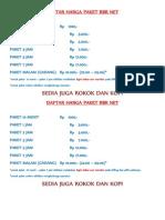 Daftar Harga Paket Rbr Net