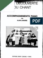 A La Decouverte Du Chant