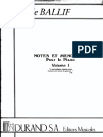 Claude BALLIF - Notes Et Menotes Vol1