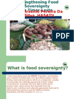 Strengtheng Food Sovereignty in Timor-Leste by Arsenio Pereira da Silva of HASATIL