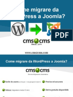 Come Migrare Da WordPress e Joomla