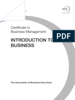 ABE level 4 - INtroduction to Business