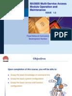 Ma5600 Multi Service Access Module Operation and Maintenance