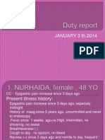 Duty Report 20 Dec