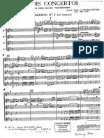 Boismortier Trois Concertos for 5 flutes