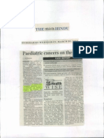 Paediatric cancers on the rise