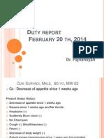 DUty Report Fajri