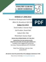 2014 Annual Show Schedule