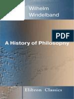 A History of Philosophy - Wilhelm Windelban